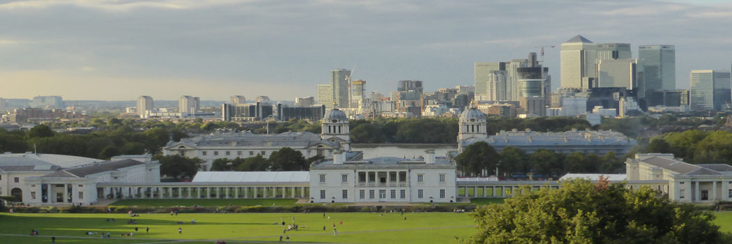 Old Meets New ~ view from Greenwich Park