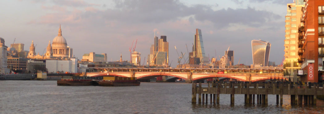 Thames Skyline at Sunset