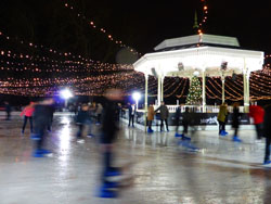 Festive London Ice Skating Hyde Park Winter Wonderland