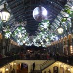 Covent Garden lights switched on in London